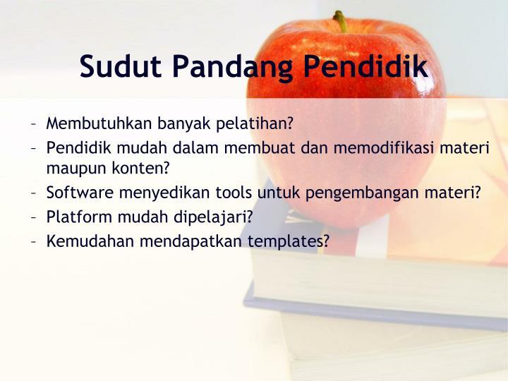 Sudut Pandang Pendidik