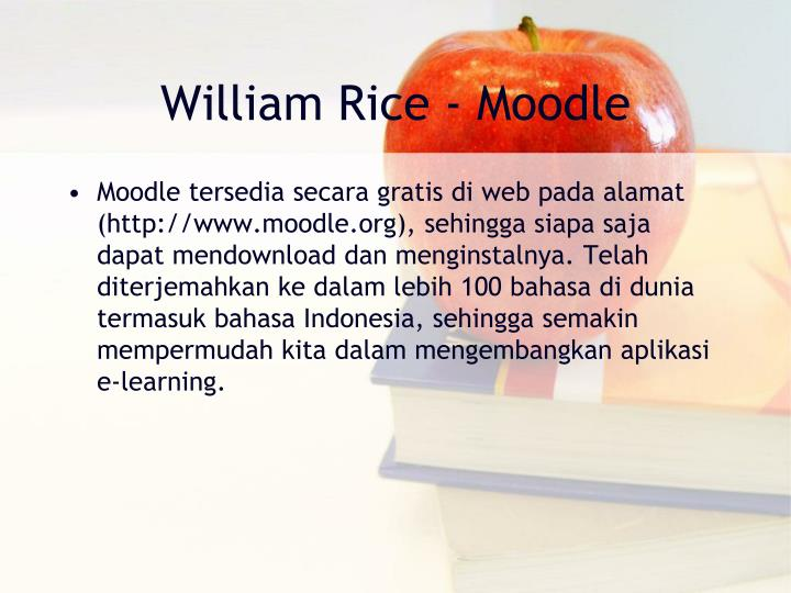 William Rice - Moodle