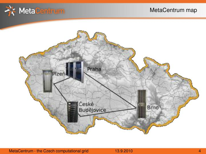 MetaCentrum map
