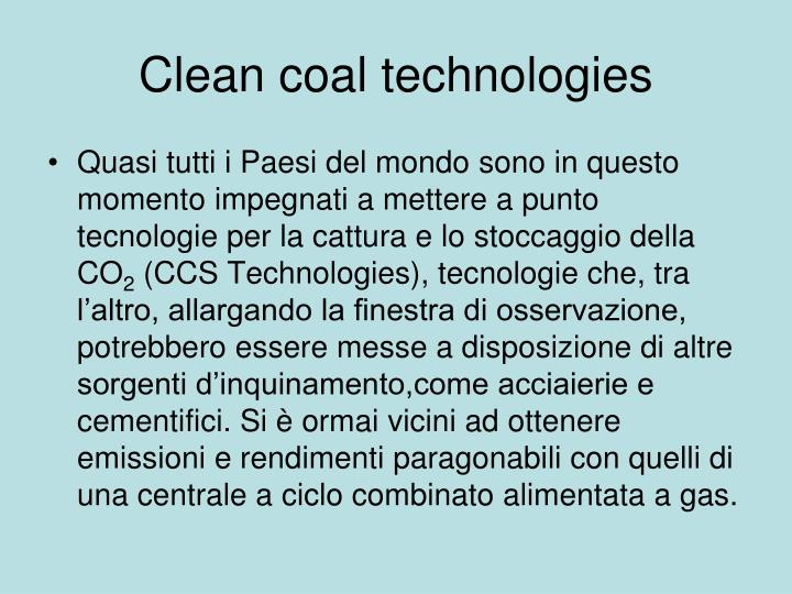 Clean coal technologies
