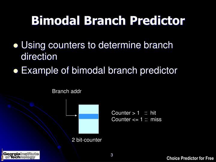 Bimodal Branch Predictor