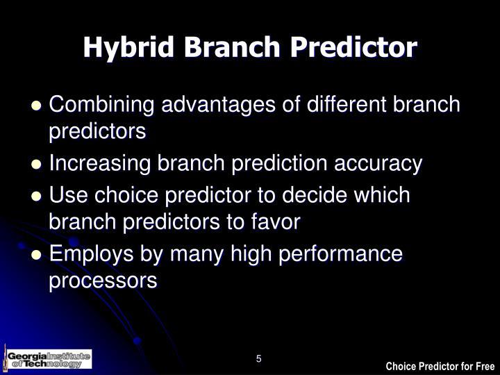Hybrid Branch Predictor
