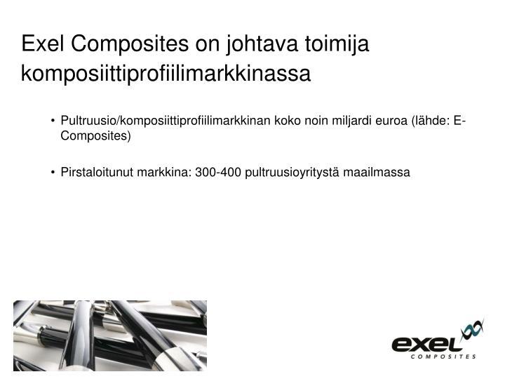 Exel Composites on johtava toimija komposiittiprofiilimarkkinassa