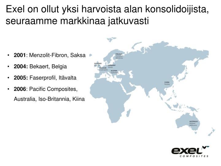 Exel on ollut yksi harvoista alan konsolidoijista, seuraamme markkinaa jatkuvasti