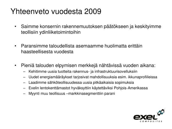 Yhteenveto vuodesta 2009