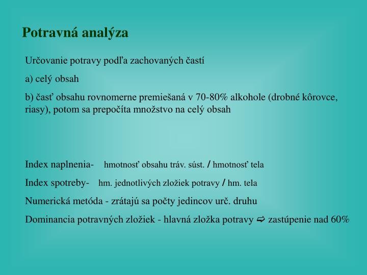 Potravná analýza