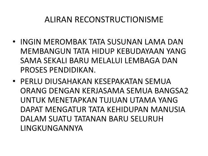 ALIRAN RECONSTRUCTIONISME