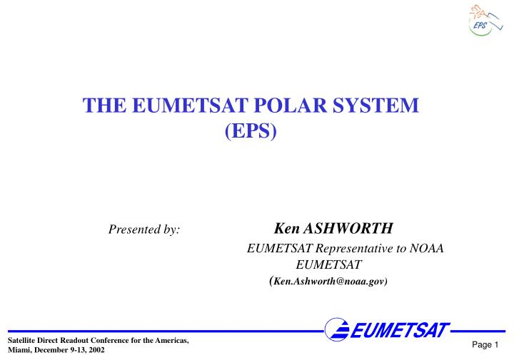 THE EUMETSAT POLAR SYSTEM