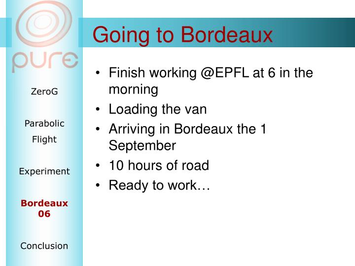 Going to Bordeaux