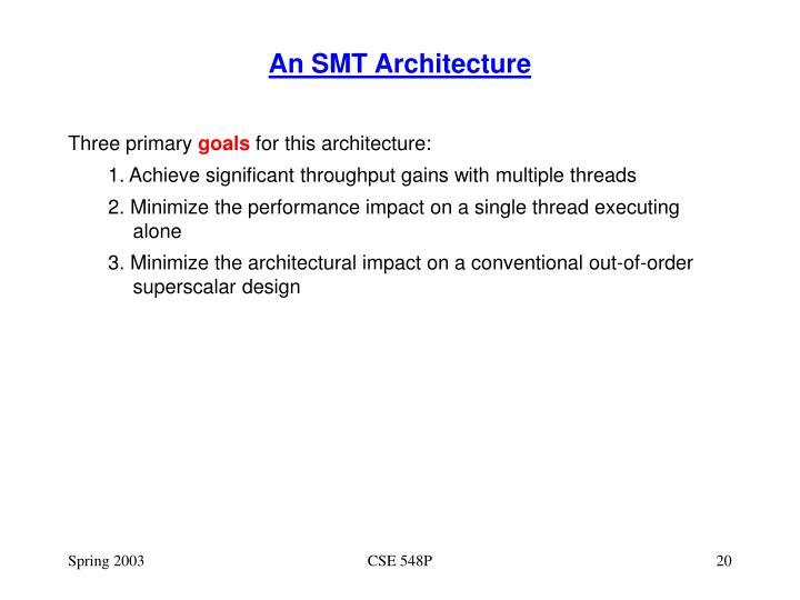 An SMT Architecture