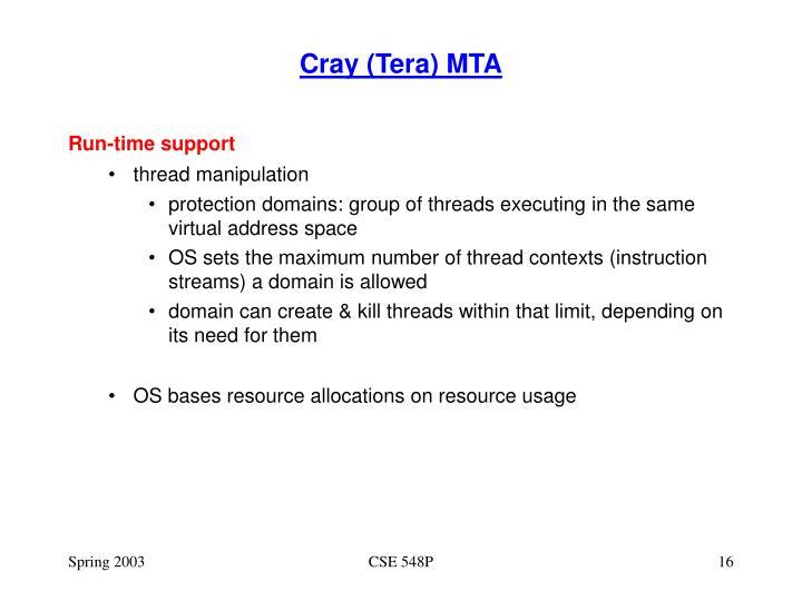 Cray (Tera) MTA