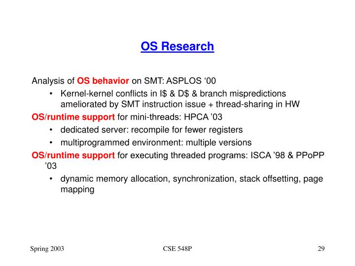 OS Research