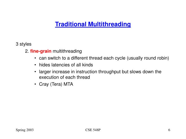 Traditional Multithreading
