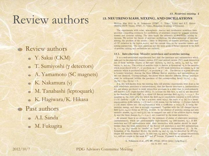 Review authors