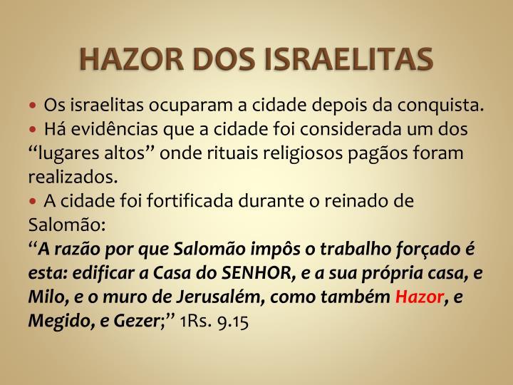 HAZOR DOS ISRAELITAS