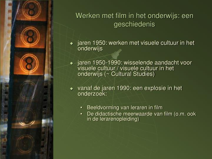 Werken met film in het onderwijs: een geschiedenis