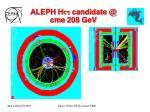 aleph h candidate @ cme 208 gev