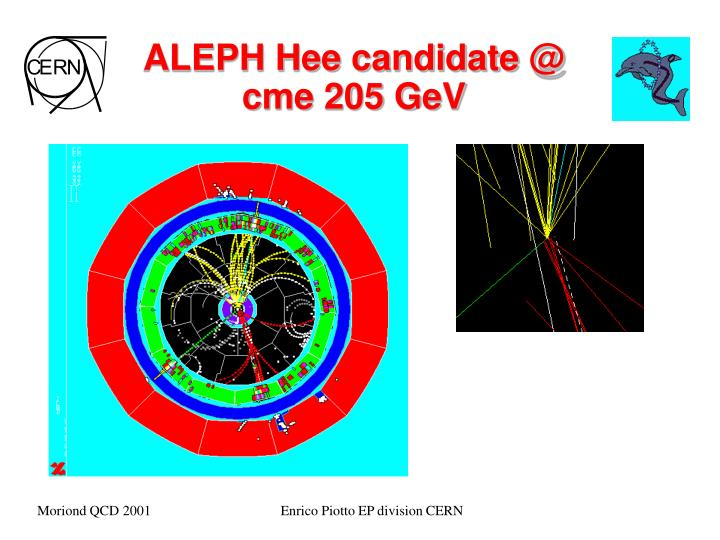 ALEPH Hee candidate @ cme 205 GeV