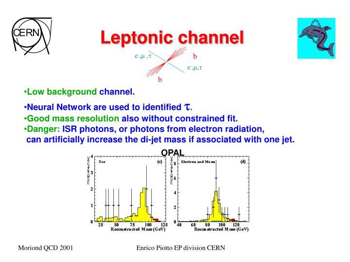 Leptonic channel