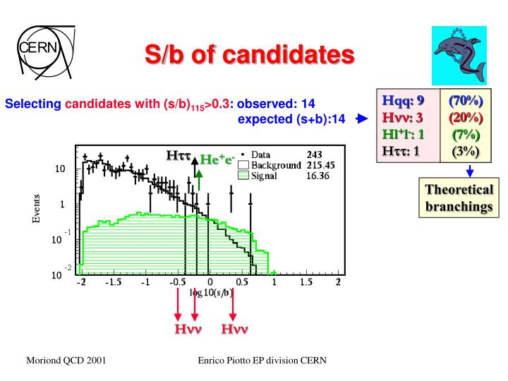 S/b of candidates