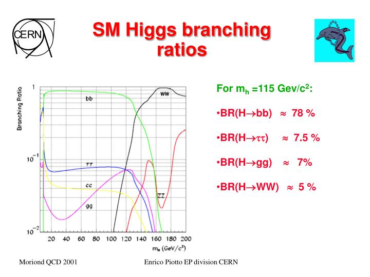 SM Higgs branching ratios