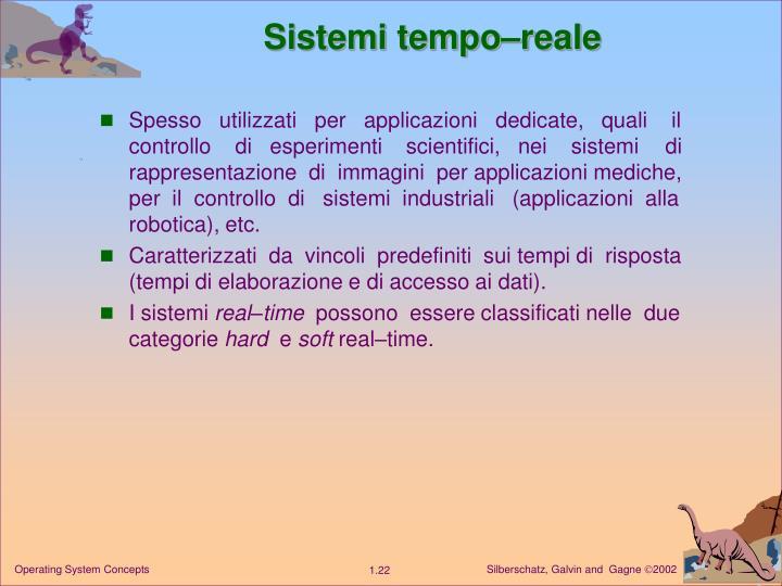 Sistemi tempo–reale