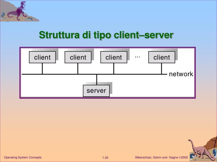 Struttura di tipo client–server