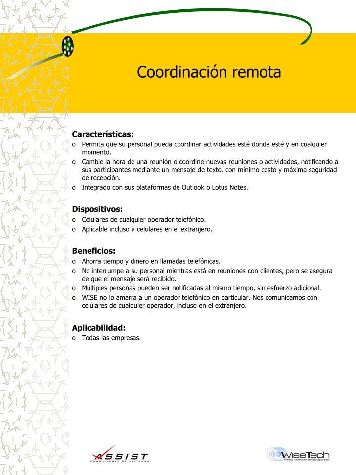 Coordinación remota