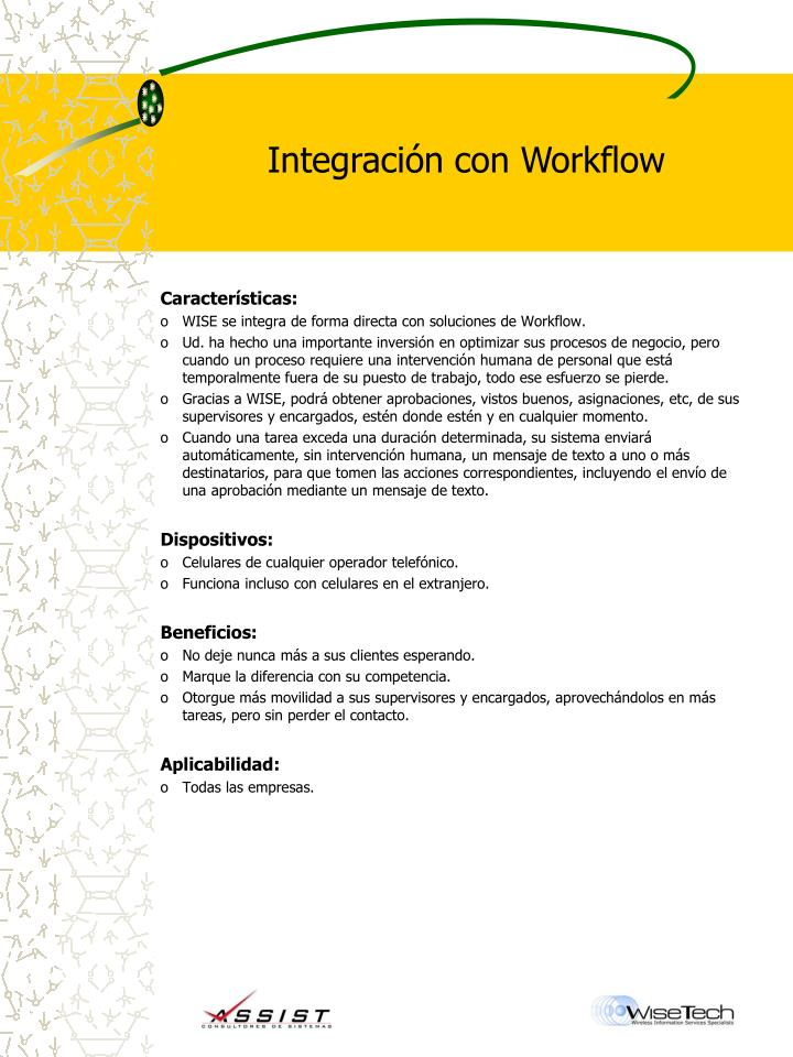 Integración con Workflow