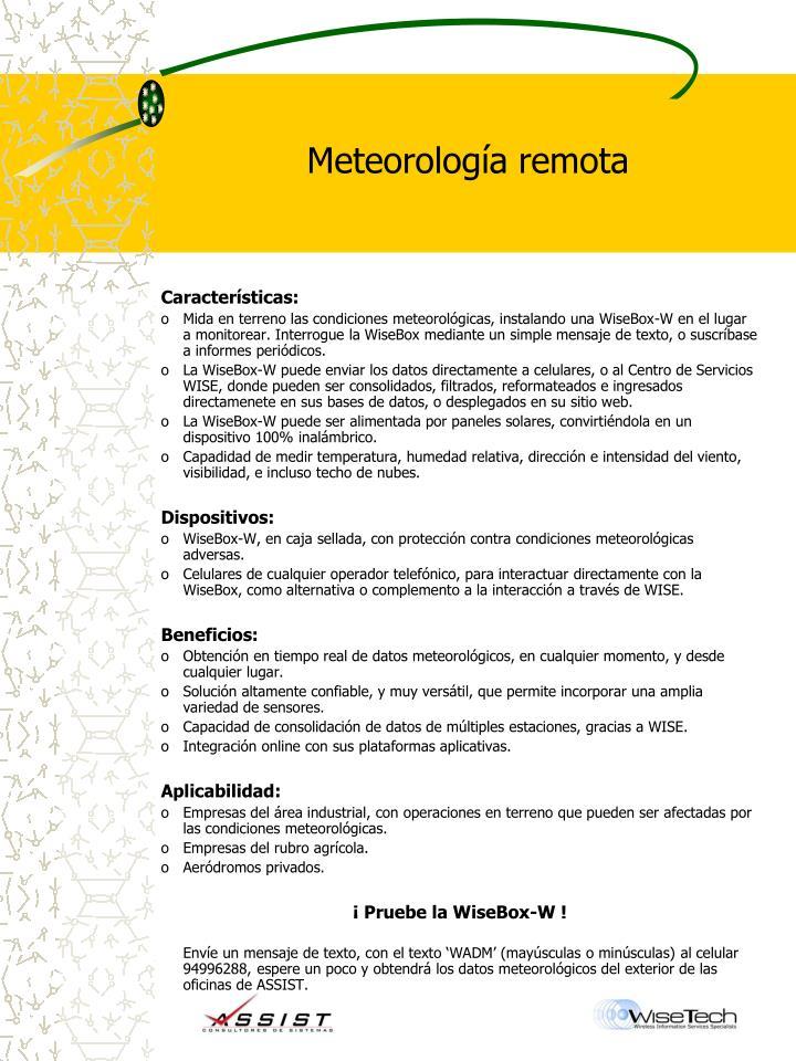 Meteorología remota