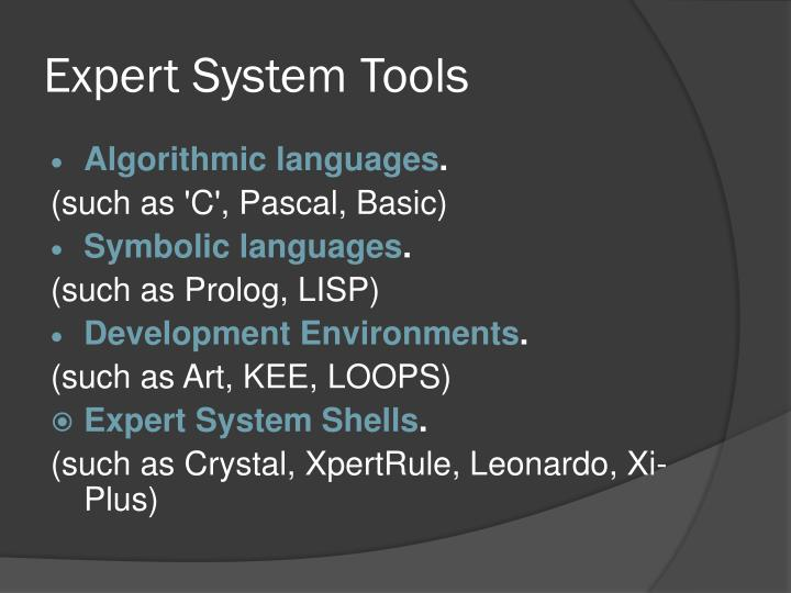 Expert System Tools