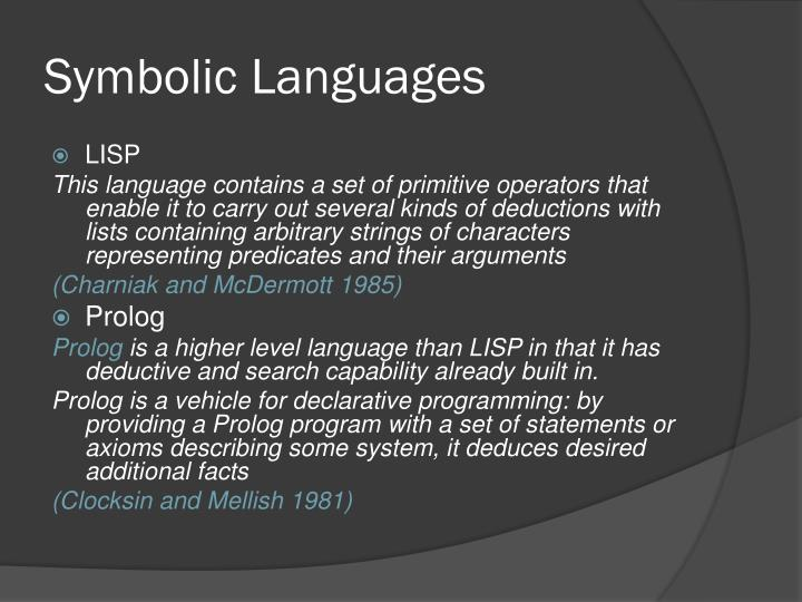 Symbolic Languages