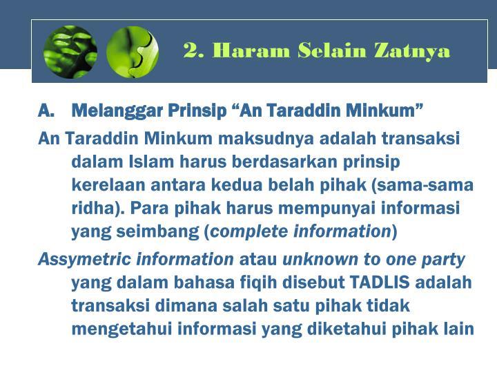 2. Haram Selain Zatnya
