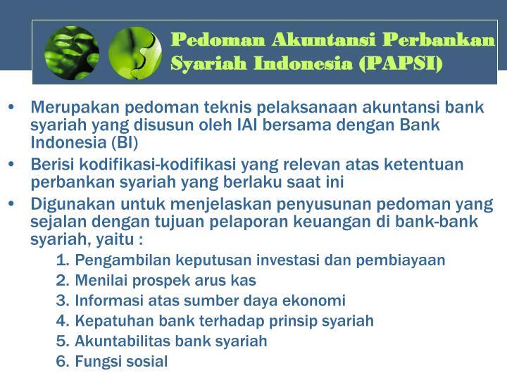 Pedoman Akuntansi Perbankan Syariah Indonesia (PAPSI)