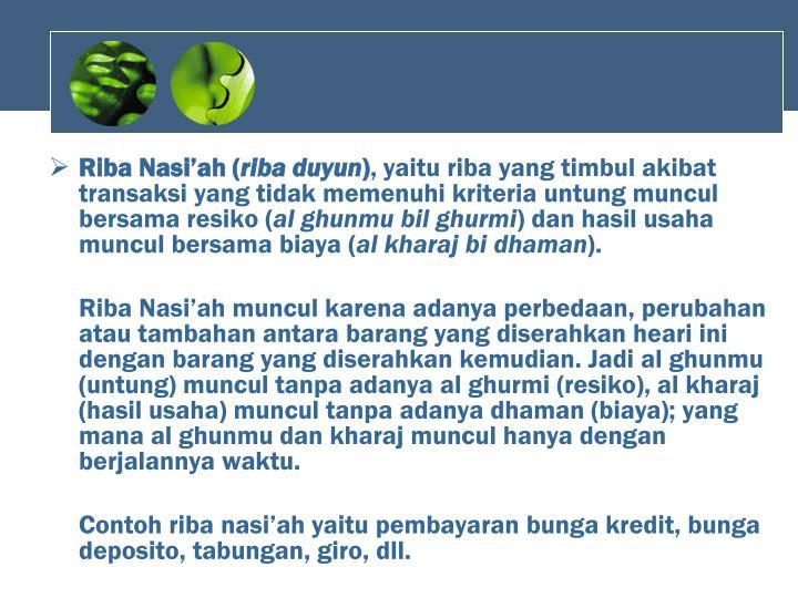 Riba Nasi'ah (