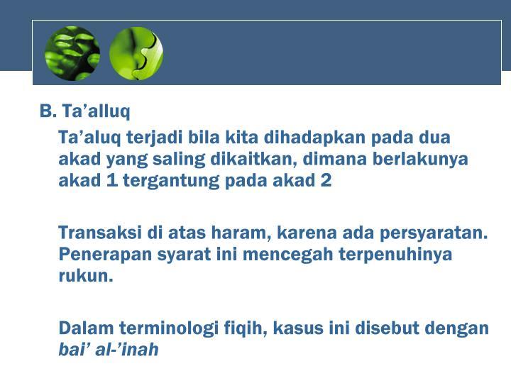 B. Ta'alluq