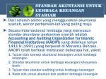 standar akuntansi untuk lembaga keuangan syariah