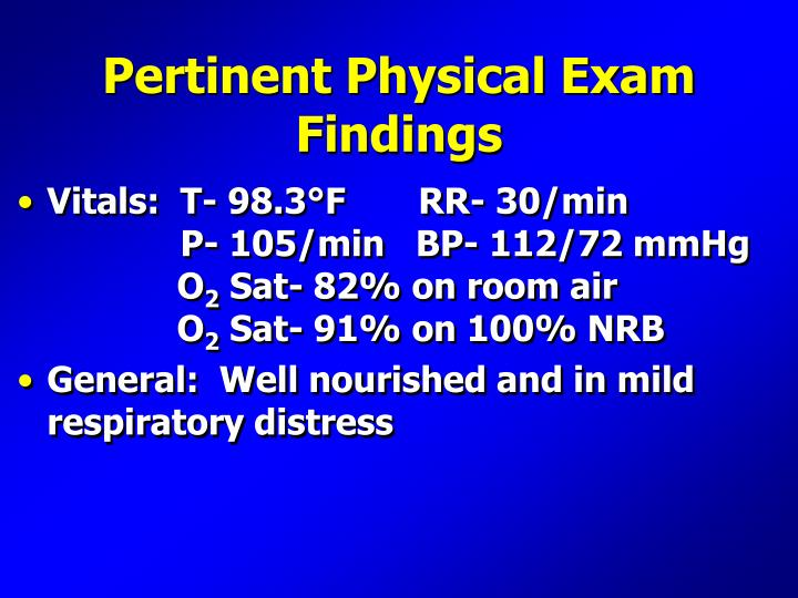 Pertinent Physical Exam Findings