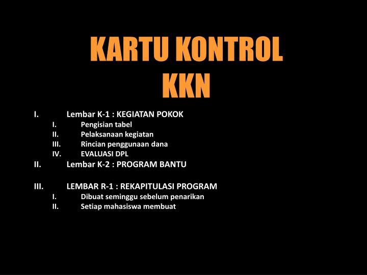 KARTU KONTROL