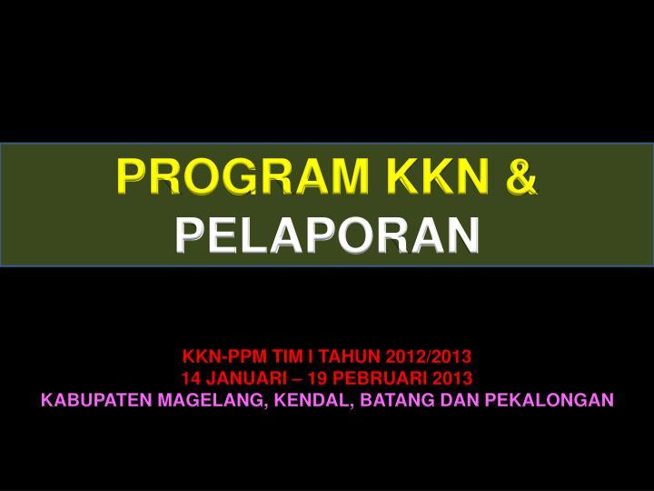PROGRAM KKN &