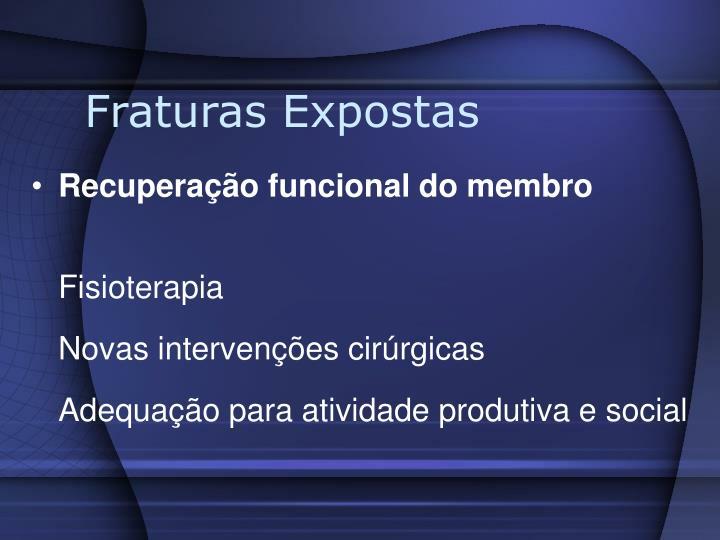 Fraturas Expostas