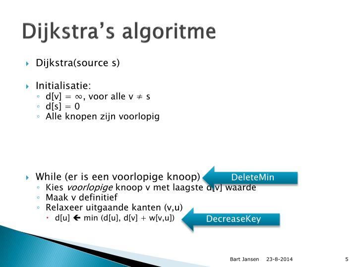 Dijkstra's algoritme
