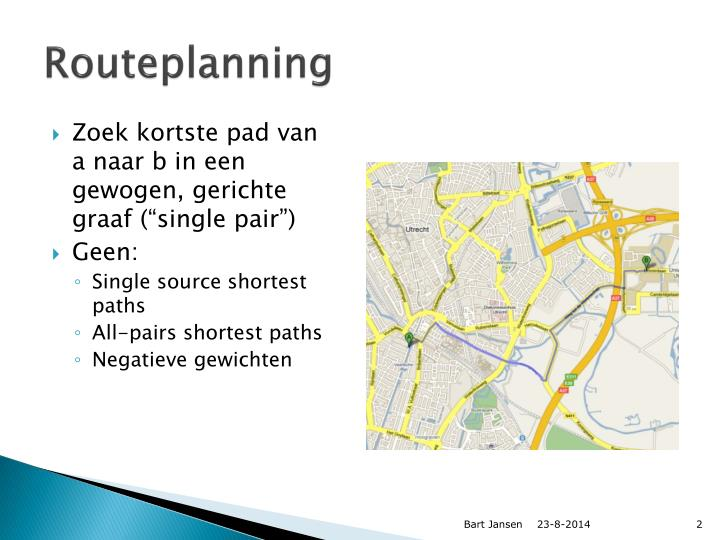 Routeplanning