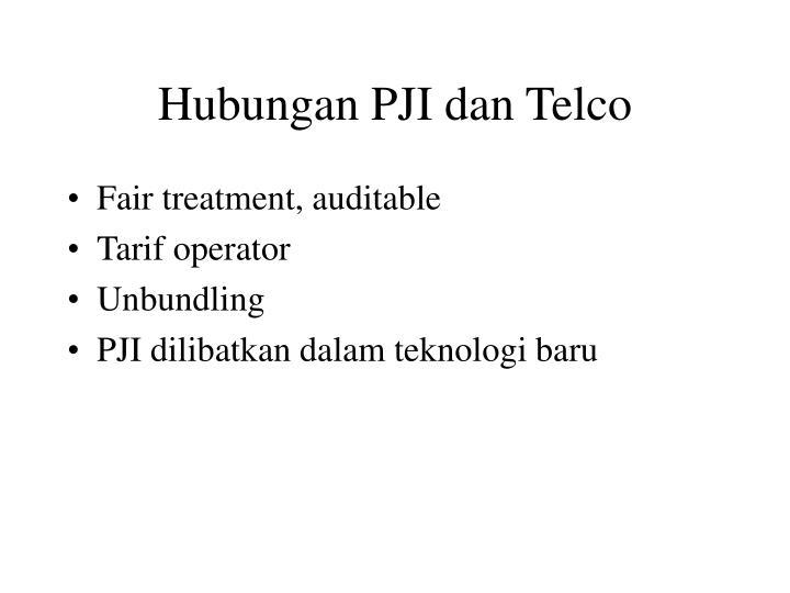 Hubungan PJI dan Telco