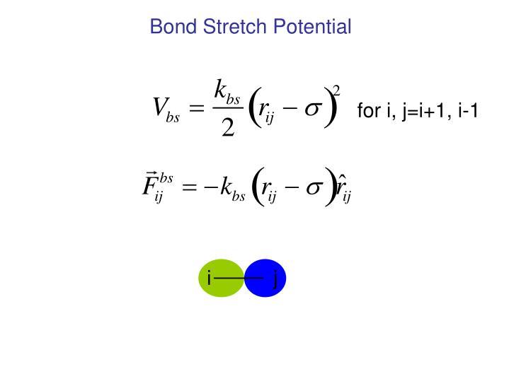 Bond Stretch Potential