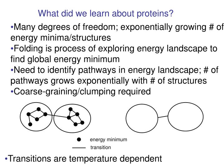 What did we learn about proteins?