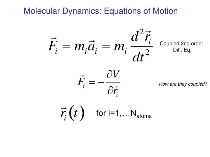 Molecular Dynamics: Equations of Motion