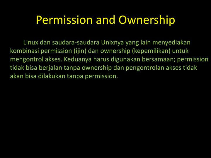 Permission and Ownership