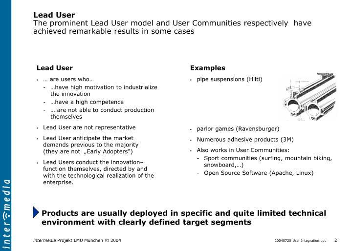 Lead User