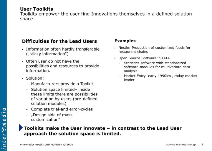 User Toolkits